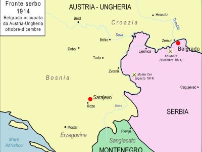 7a Fronte serbo Beograd 1914