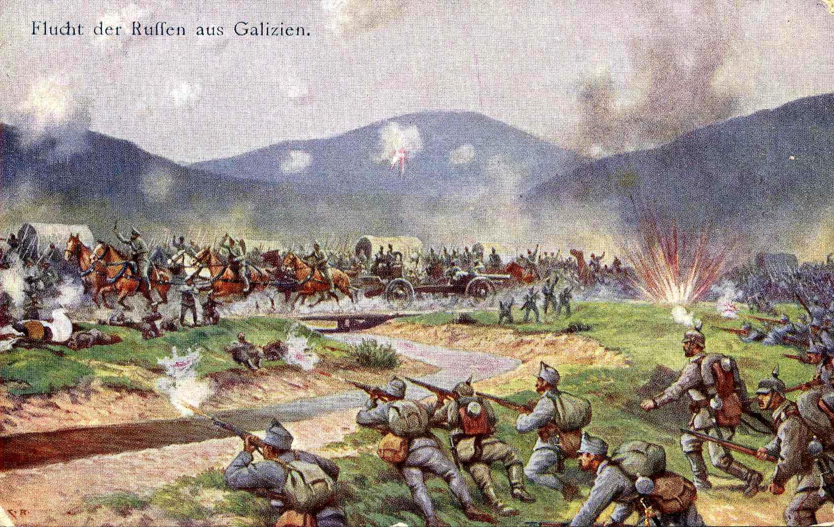 Attacco russo in Galizia Archivio E. Mastrociani F. Todero