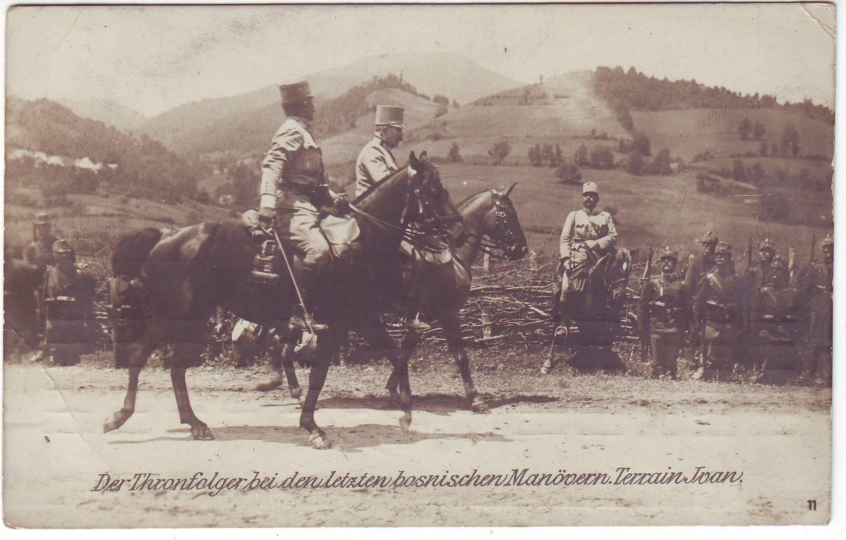 Francesco Ferdinando alle manovre in Bosnia Archivio Roberto Todero