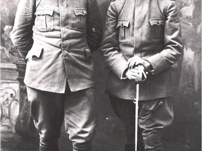 Scipio Slataper a sx con il fratello Guido CMSA