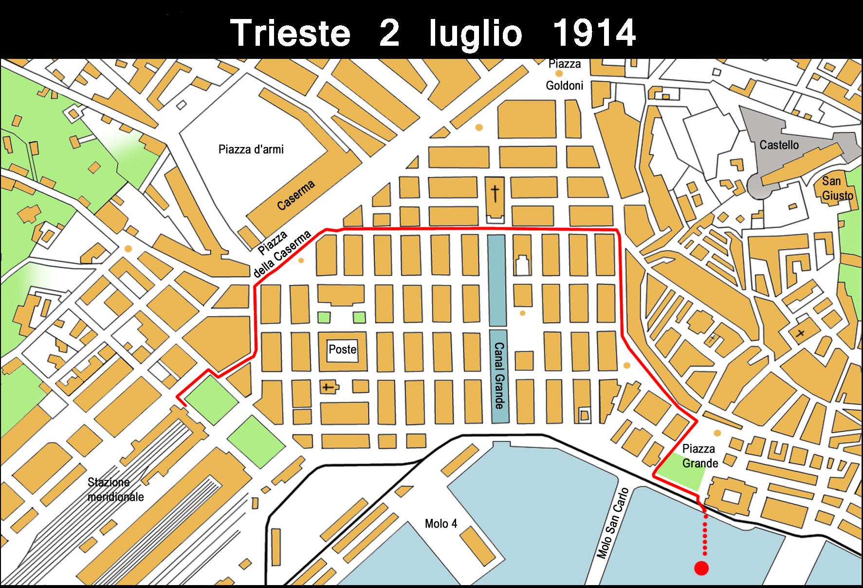 Trieste Percorso funerale