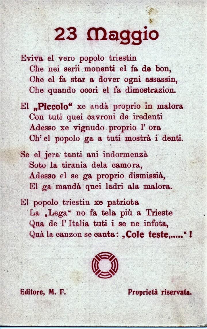 6- Violenze del 23 maggio 1915 a Trieste