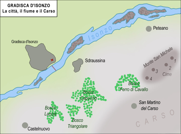 GRADISCA 1915 cartina di franco cecotti