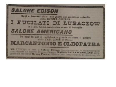 Il Piccolo 10 febbraio 1915 FOTO FOTO  Impresari